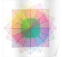 Sacred Geometry cubed orb Poster