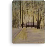 Short Days And Long Shadows Canvas Print