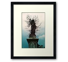 Cherub in Ivy, Kensal Green Cemetery, London Framed Print