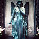 Blue Angel, Cimitero Monumentale di Staglieno, Genoa, Italy by Peter Morse