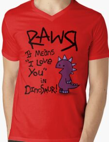 Rawr Mens V-Neck T-Shirt