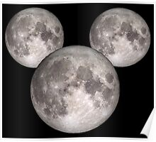 Mickey Moon small (see also: BIG) Poster