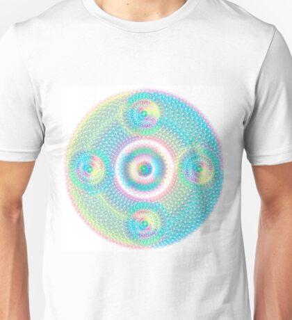 Sacred Geometry Orb cubical Aqua Unisex T-Shirt