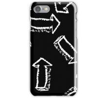 Pattern arrows on black background  iPhone Case/Skin