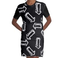 Pattern arrows on black background  Graphic T-Shirt Dress