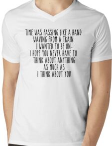 Time was passing but I still thought of you  Mens V-Neck T-Shirt