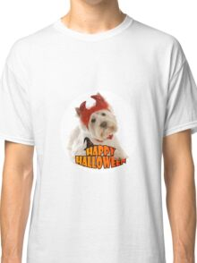 Happy Halloween with White Dog Classic T-Shirt