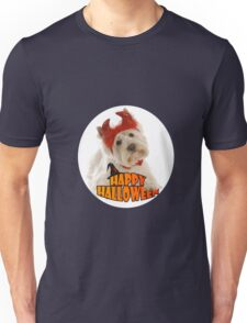 Happy Halloween with White Dog Unisex T-Shirt