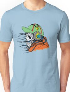 Skeleton with Headphones - Funny Cartoon Unisex Unisex T-Shirt