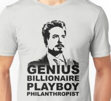 Tony Stark (Black Version) Unisex T-Shirt