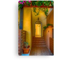 The Side Entrance Canvas Print