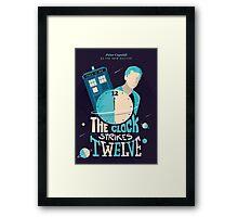 The Clock Strikes Twelve | Doctor Who Framed Print
