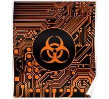 Orange Biohazard (Cybergoth) Poster