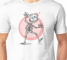 Halloween verrücktes Skelett Unisex T-Shirt