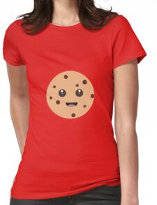 chocolate chip cookie kawaii Womens Fitted T-Shirt