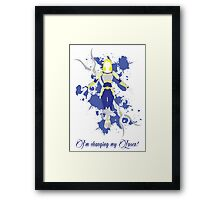 Lux, the Lady of Luminosity Framed Print
