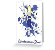 Lux, the Lady of Luminosity Greeting Card