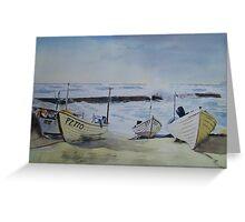 Sennen Cove Fishing Boats Greeting Card