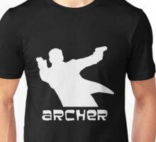 Archer silhouette white Unisex T-Shirt