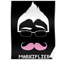 Markiplier/Warfstache (White Logo Eyebrow) Poster