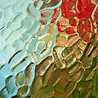 colorful abstract textured glass pattern by david street