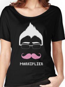 Markiplier/Warfstache (White Logo) Women's Relaxed Fit T-Shirt
