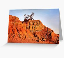Lunar dune at sunset Greeting Card