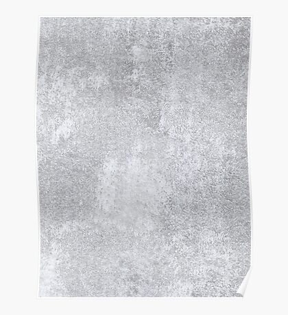 Abstract silver paper Poster