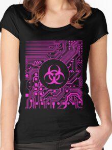 Pink Biohazard (Cybergoth) Women's Fitted Scoop T-Shirt
