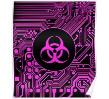 Pink Biohazard (Cybergoth) Poster