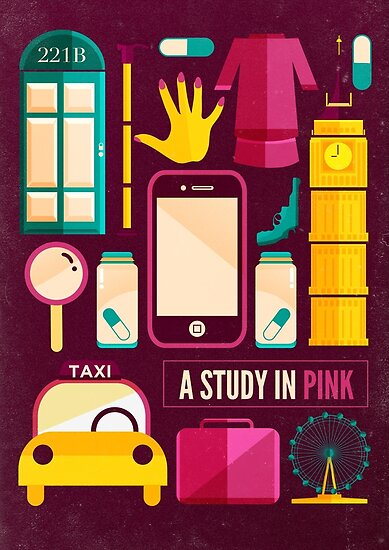 Sherlock Icons Poster by Risa Rodil