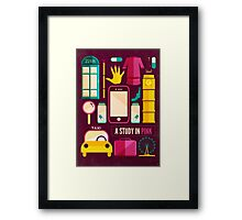 Sherlock Icons Poster Framed Print