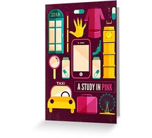 Sherlock Icons Poster Greeting Card
