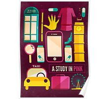 Sherlock Icons Poster Poster