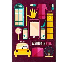 Sherlock Icons Poster Photographic Print