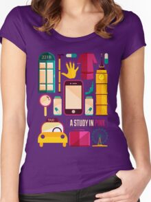 Icons Poster Women's Fitted Scoop T-Shirt