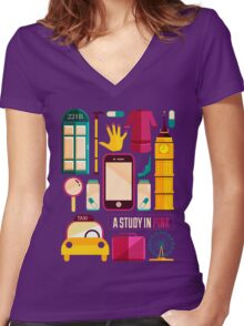 Icons Poster Women's Fitted V-Neck T-Shirt