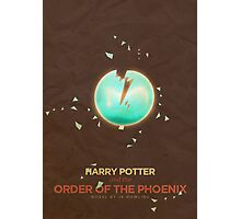 Harry Potter and the Order of the Phoenix Minimalist Poster Photographic Print