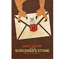 Harry Potter and the Sorcerer's Stone Minimalist Poster Photographic Print