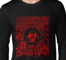 Red Biohazard (Cybergoth) Long Sleeve T-Shirt