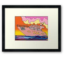 Sunset Boating Framed Print