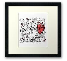coronary apples Framed Print