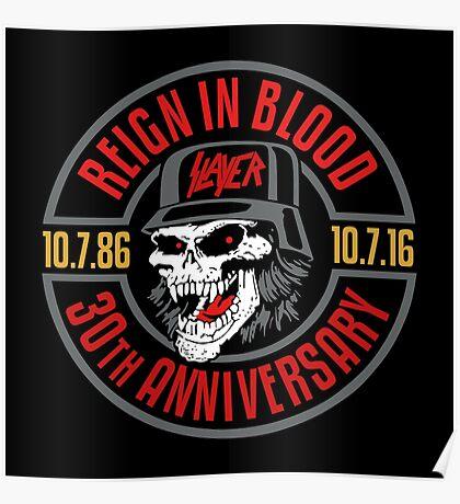 Slayer's 30th Anniversary Tee Poster