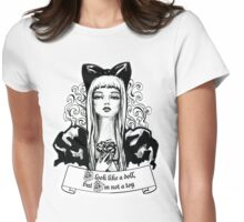 Fashion beautiful blond girl vintage illustration Womens Fitted T-Shirt