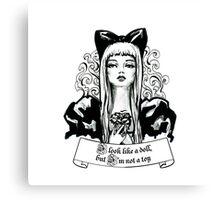 Fashion beautiful blond girl vintage illustration Canvas Print