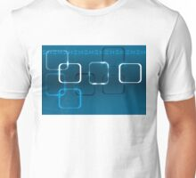 Abstract technical background with DNA and lights Unisex T-Shirt
