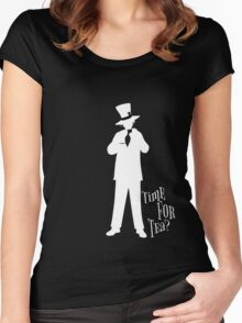 Time For Tea - Hatter (White Version) Women's Fitted Scoop T-Shirt