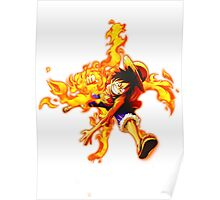 luffy red hawk Poster