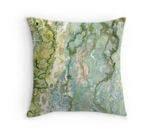 Okavango marbled Throw Pillow