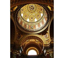 Interior of St Stephen's Basilica, Budapest Photographic Print